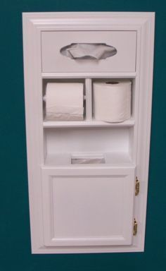 Reclaim the space between the studs with a Multi-purpose In Wall Tissue, Toilet Paper, Garbage Storage Unit