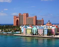 Bahamas :: Atlantis ! The pics are not enhanced... The water is that blue! Couldn't take my eyes off it! Tips are included in everything at Atlantis, so the customer service was not up to par- we won big at the Ca$InO though:)