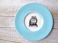 OWL // Sweet Dreams Sign //  Blue // Woodland Nursery by SweetMeas, $24.00