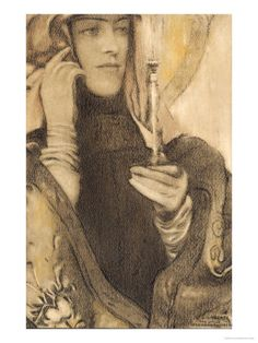 Incense by Fernand Khnopff.  {via office23commonplace}