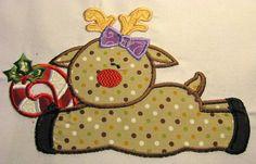 Rheindeer Friends 02 Machine Applique Embroidery by KCDezigns, $3.50