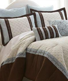 Loving this Baxtor Eight-Piece Comforter Set on #zulily! #zulilyfinds