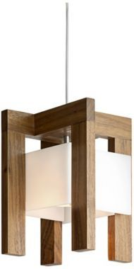 Laurus Oiled Walnut with Frosted LED Cerno Pendant Light Light output is 215 lumens. 9 1/2-inches high. 7 1/2-inches wide. 7 1/2-inches deep. EU2W957 $285.91