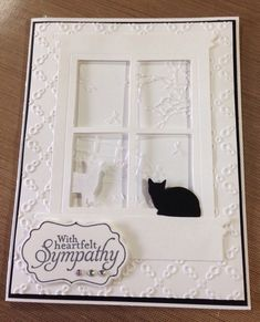 CAT - Pet Sympathy Card for loss of a Beloved CAT or KITTY #Handmade #SympathyFuneral