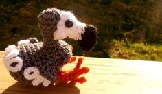 Dodo bird free crochet pattern by Melissa Mall