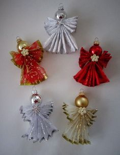 PDF E-Pattern Christmas Angel Ornament 92 Primitive Raggedy Holiday Cloth Sewing Fast Easy Pattern Folk Art Victorian Shabby Chic Christmas Ornaments, Christmas Angel Ornaments, Handmade Christmas, Christmas Diy, Christmas Decorations, Christmas Poinsettia, Christmas Ribbon, Pinterest Christmas Crafts, Christmas Projects