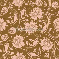 Бесшовный цветочный фон — Векторное изображение © juli_goncharova #8412363