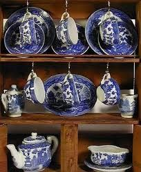 Blue Willow children's dishes...have two sets we used for Lori's third birthday party...