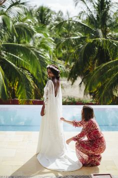Boda, carnaval, noeme, novia, novias, bodas, novia negra, novia de color, Brasil, boda en brasil, oh qué luna, oh que luna, volvoreta, boda boho, bohemia, hippie, bohochic, vestido de novia, corona de flores, boda tropical
