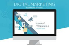 Digital Marketing Template by PresentationDeck on @creativemarket