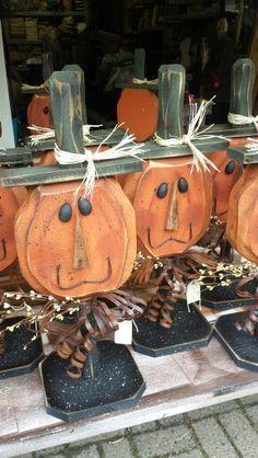 Hand carved pumpkins