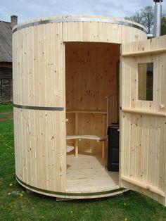 Building A Sauna, Building A Tiny House, Tiny House Cabin, Barrel Sauna, Kangoo Camper, Arched Cabin, Sauna Design, Outdoor Sauna, Sauna Room