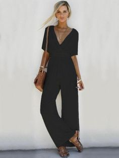 Women's Clothing Inventive Casual Bohemian Jumpsuit Solid Color Loose Spaghetti Strap O-neck For Summer Beach Ankle-length Pants Vestidos Mujer Verano#tj