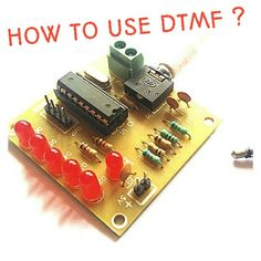 #DTMF stands for DUAL TONE MULTIPLE FREQUENCY , in which we are going to use Mobile phone to make its as a wireless device, it works on the frequency which we generate on keypad of caller phone.