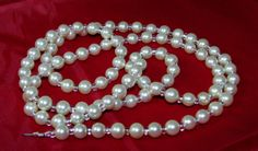White Pearl and Clear Beaded Eyeglass Lanyard Necklace by nonie615, $25.00 I can convert to a Key or ID Badge Lanyard