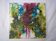 Abstract Mixed MediaOrganicOriginal by AlinaFoleyKingdomArt, $150.00