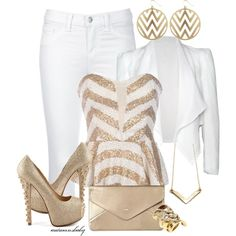 Chevron Shimmer, created by autumnsbaby on Polyvore