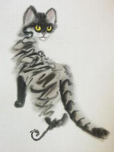 Дневник ixnewmon : LiveInternet - Российский Сервис ОнРLand Art, Art Abstrait, Here Kitty Kitty, Cat Drawing, Street Art, Crazy Cats, Cool Cats, Cats And Kittens, Illustration Art
