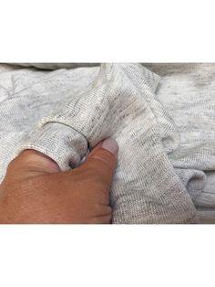 Jersey - natur/ grå i hør og uldmix
