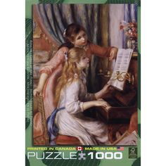 Renoir Two Girls at Piano 1000 Piece Puzzle: Pierre-Auguste Renoir was invited by the French government to produce a painting for the new Musee du Luxembourg in Paris. He chose as his subject two girls at the piano.  $17.99  http://calendars.com/Renoir/Renoir-Two-Girls-at-Piano-1000-Piece-Puzzle/prod201100012930/?categoryId=cat00021=cat00021#