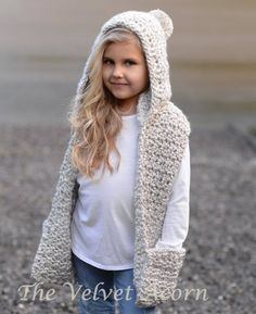 b3689c73c4d Crochet PATTERN-The Summit Hooded Scarf (12 18 month
