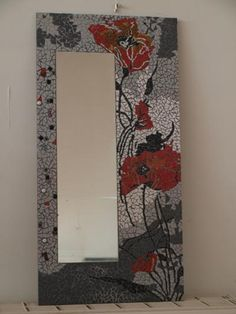 Mosaic Artwork, Mirror Mosaic, Mirror Art, Mosaic Glass, Mosaic Tiles, Glass Art, Stencil Wall Art, Mosaic Flowers, Mosaic Madness