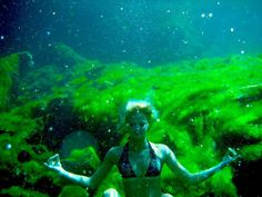 The purifying, magical waters of Cenote Eden - a freshwater cave in the Riviera Maya, Mexico