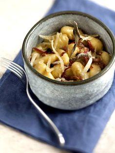 Gnocchi au speck et au gorgonzola : Recette de Gnocchi au speck et au gorgonzola - Marmiton
