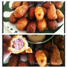 Gluten free mini corn dogs