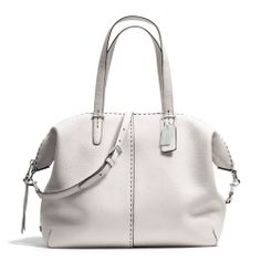 The Bleecker Large Cooper Satchel In Stitched Pebbled Leather from Coach