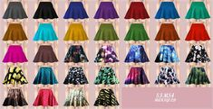 SIMS4 marigod: hot flared mini skirt_플레어 미니 스커트_여성 의류