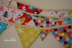 fabric banner - christmas