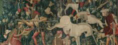 The Unicorn Defends Itself, from The Metropolitan Museum of Art - The Cloisters' Unicorn Tapestries Unicorn Tapestries, Night At The Museum, Real Unicorn, The Cloisters, National Portrait Gallery, Tapestry Weaving, Early American, Egyptian, Creatures