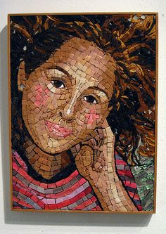 portrait mosaic art - Wanna find out how to DIY this one