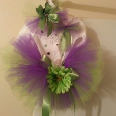 Homemade baby girl Tutu outfit with matching headband.