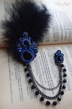Aristocrat Gothic Victorian soutache blue and black by Raven666, $35.00
