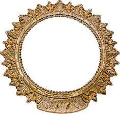 Orfebrería Cofrade Coronas Santos Aureola para Santo en metal baño de oro cincelada