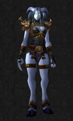 Female Draenei Monk Super cool World of Warcraft Weapons