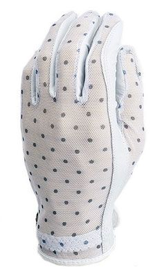 Black & White Dots Evertan Ladies Designer Golf Gloves available at Lori's Golf Shoppe