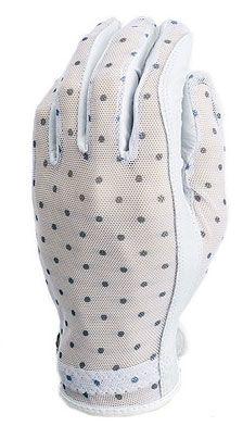 Black & White Dots Evertan Ladies Designer Golf Gloves available at Lori's Golf Shoppe