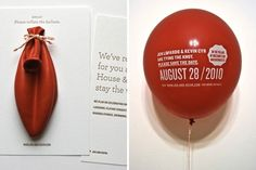Creative Invitations  - DesignTAXI.com #balloon