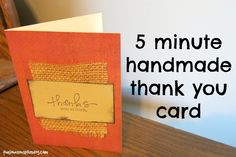 5 Minute Handmade Thank You Card