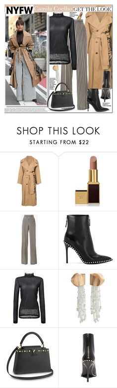 """""""Camila Coehlo"""" by mery90 ❤ liked on Polyvore featuring Oscar de la Renta, Tom Ford, Etro, Alexander Wang, Loewe and MANGO"""