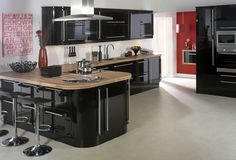 Neptune Black Gloss Kitchens