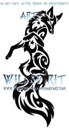 Leaping Starry Fox Tattoo by *WildSpiritWolf on deviantART