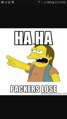 Packers Lose Memes : packers, memes, Anti-Packers, Ideas, Packers,, Packers, Memes,, Football, Memes