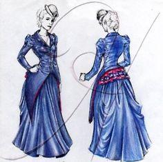 Rachel McAdams costume sketch for Sherlock Holmes