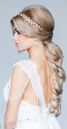 Wedding hairdo - beautiful braid!