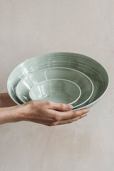 A beautiful set of nesting bowls makes healthy meals a lot more fun. A set of three hand-thrown serving bowls, carefully made to nest inside each other. This set is very versatile and can be used from anything from serving vegetables to sauces, or even to bake a dessert in, making it a kitchen must-have you'll use again and again.