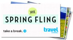 Take a break and have a Spring Fling with us!
